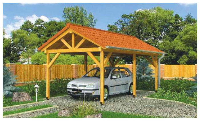 Projekt wiaty drewnianej na samochód
